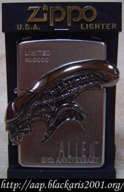Alien20thAnniversaryZippo
