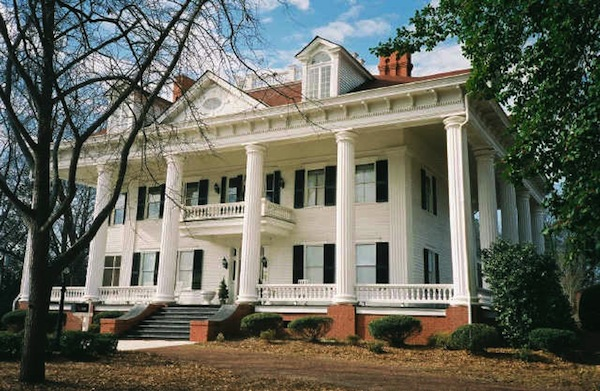 real-12-oaks-ext inspiration 1833 greek revival covington georgie