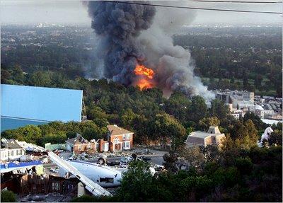retour vers Universal Studios Backlot Fire
