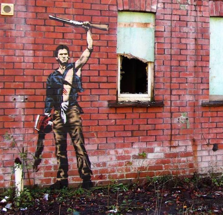 street art evil dead