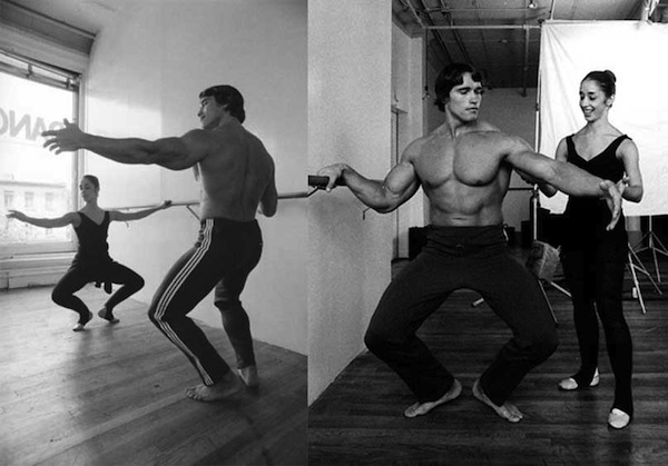 Arnold-Schwarzenegger-taking-ballet-lessons-from-dancer-Marianne-Claire-to-perfect-his-posing