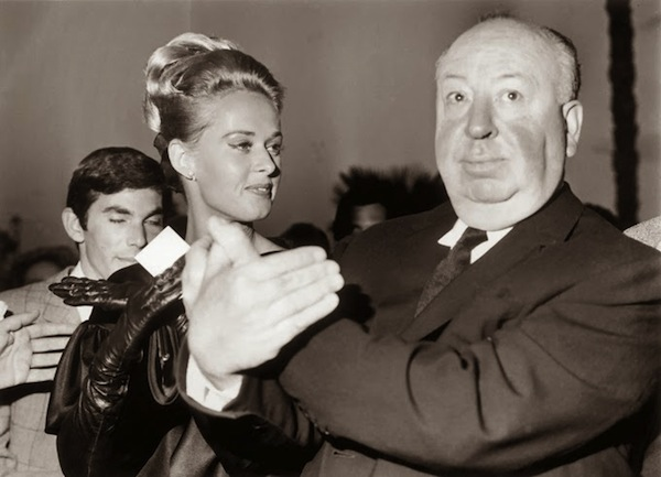 Alfred Hitchcock and Tippi Hedren attend the Cannes Film Festival, 1963 (3)