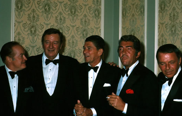 bob hope wayne martin sinatra reagan 1970 diner goiuverneur californie