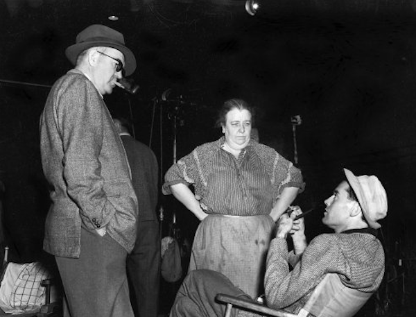 John Ford, Jane Darwell and Henry Fonda on the set of The Grapes of Wrath0