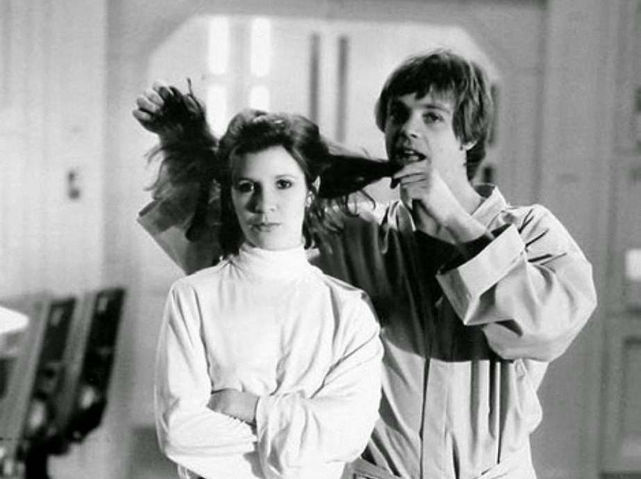 star wars hamill fisher cheveux