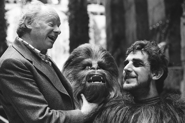 star wars making of maquilleur Stuart Freeborn et Peter Mayhew.