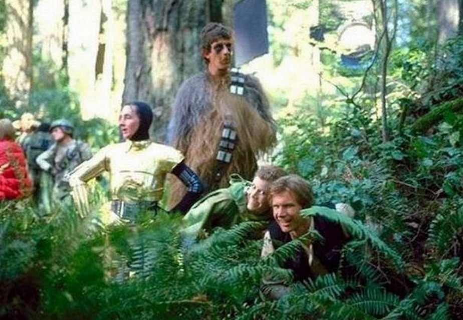 star wars team dans la foret