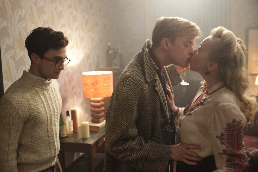 Daniel Radcliffe as Allen Ginsberg, Dane DeHaan as Lucien Carr and Elizabeth Olsen as Edie Parker