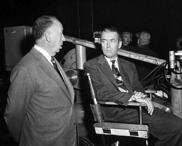 James Stewart & Alfred Hitchcock