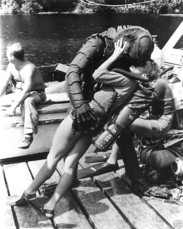 "Behind the scenes of ""Creature From the Black Lagoon"", 1954 (2)"