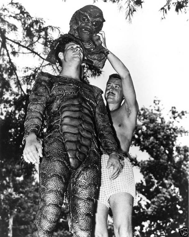 "Behind the scenes of ""Creature From the Black Lagoon"", 1954 (12)"