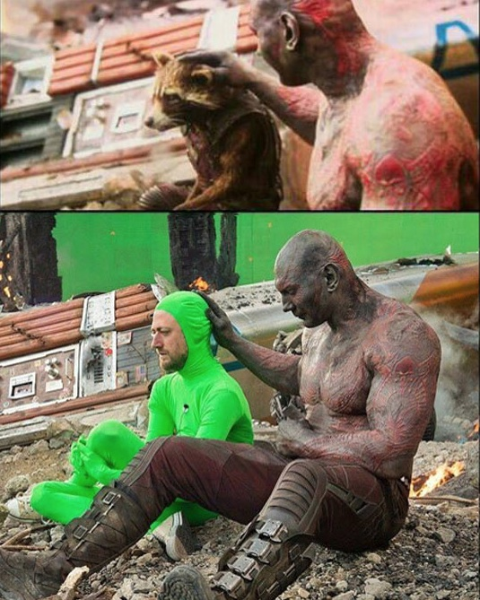 GUARDIANS OF THE GALAXY SUR LE TOURNAGE