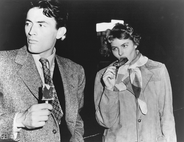 Spellbound-in-Hollywood-with-Gregory-Peck-during-a-break-in-shooting-1944.
