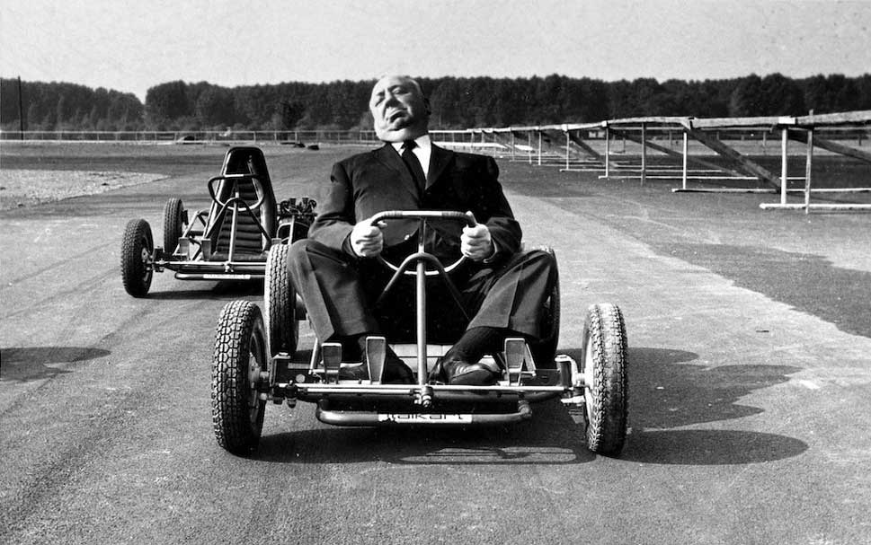 Alfred-Hitchcock-riding-a-go-kart-1960