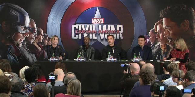 """Conférence de presse française de """"Captain America : Civil War"""""""