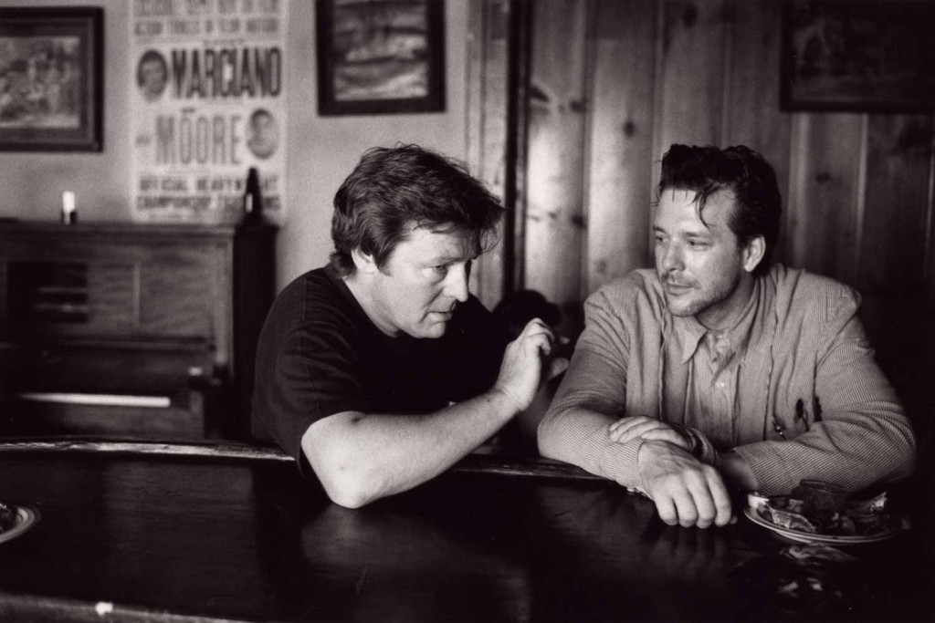 Alan Parker et Mickey Rourke sur le trounage de Angel Heart
