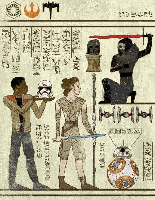 star wars hieroglyphe