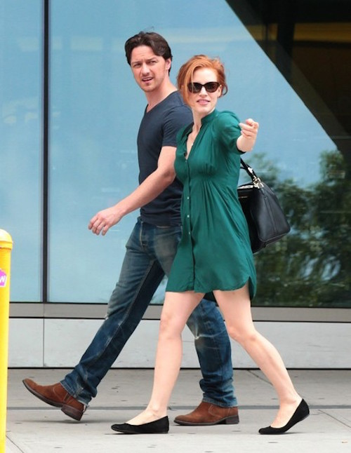 Jessica+Chastain+James+McAvoy+movie+set+D5a_D6igMj2l