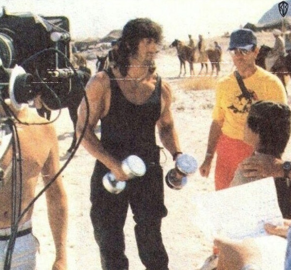 rambo 3 on the set
