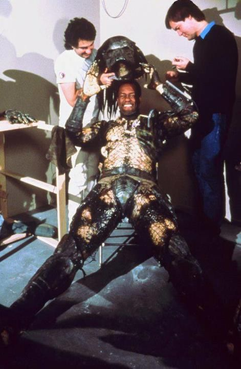 on the set predator kevin peter hall