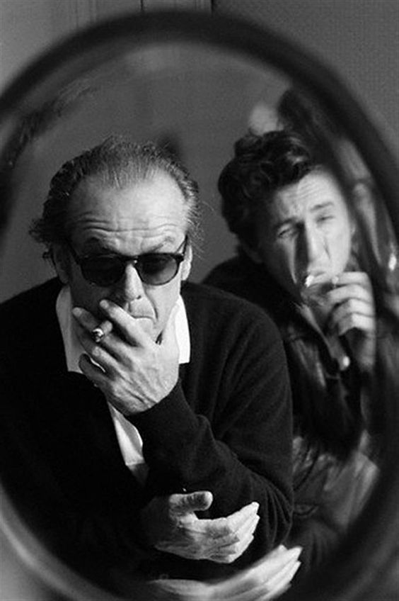 1995, Deauville, France --- American actors Jack Nicholson and Sean Penn attend the American Film Festival of Deauville to present the film , directed by Penn and starring Nicholson. --- Image by © Luc Roux/Corbis