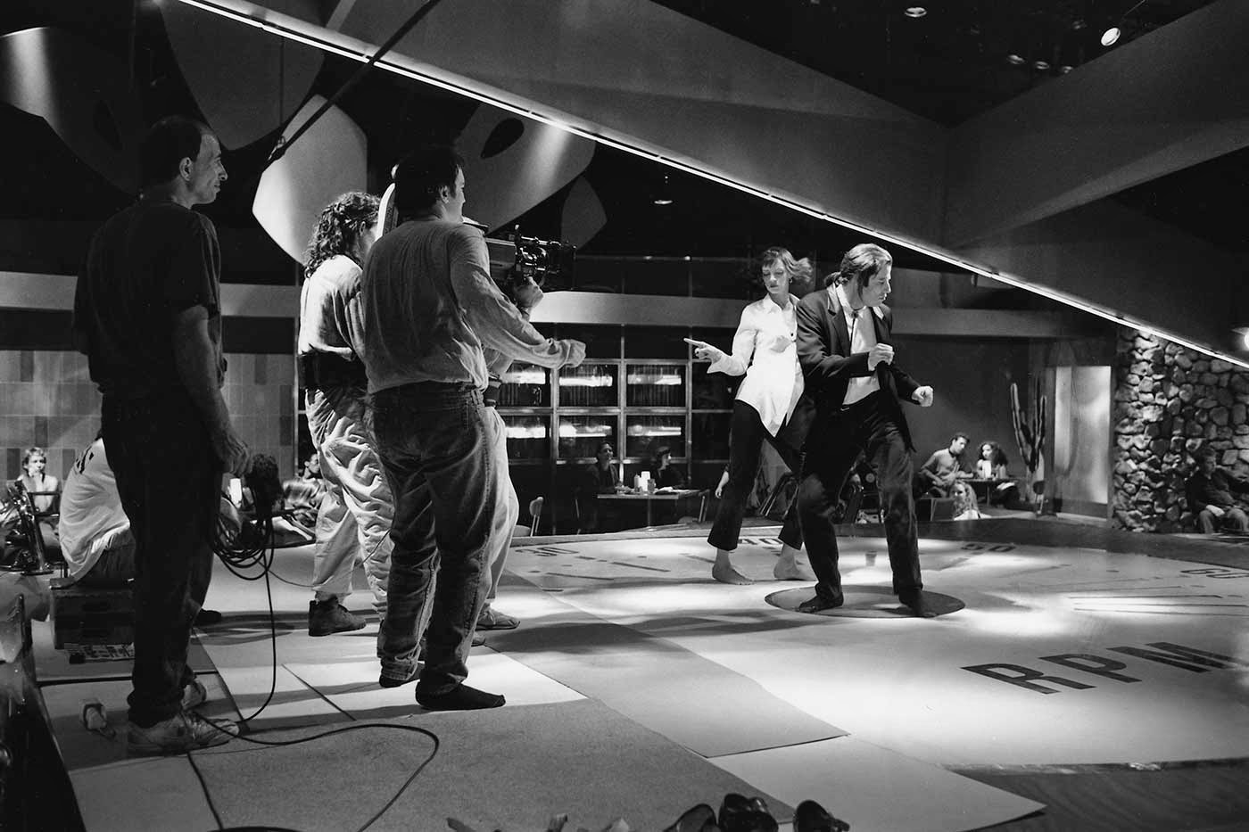 Pulp Fiction detrás de las cámaras baile